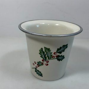 White Barn Candle Co Holly & Berries Votive Holder